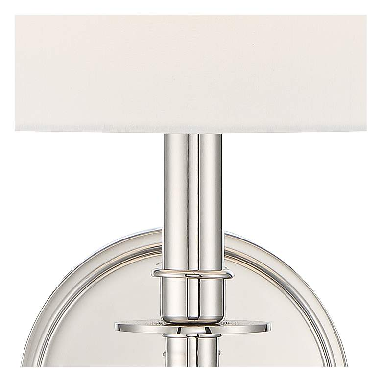 "Crystorama Chimes 10 1/4"" High Polished Nickel Wall Sconce more views"