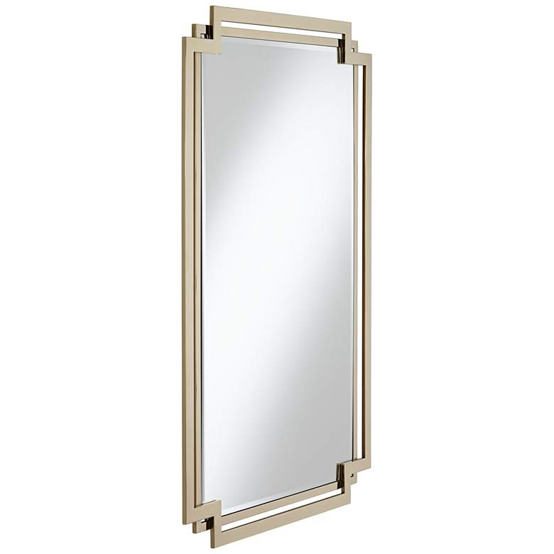 "Carpathia 30 1/2"" x 45 1/4"" Gold Wall Mirror more views"