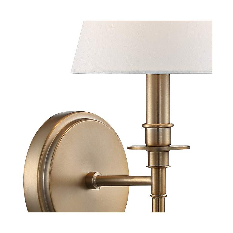 "Crystorama Riverdale 14 1/2"" High Aged Brass Wall Sconce more views"