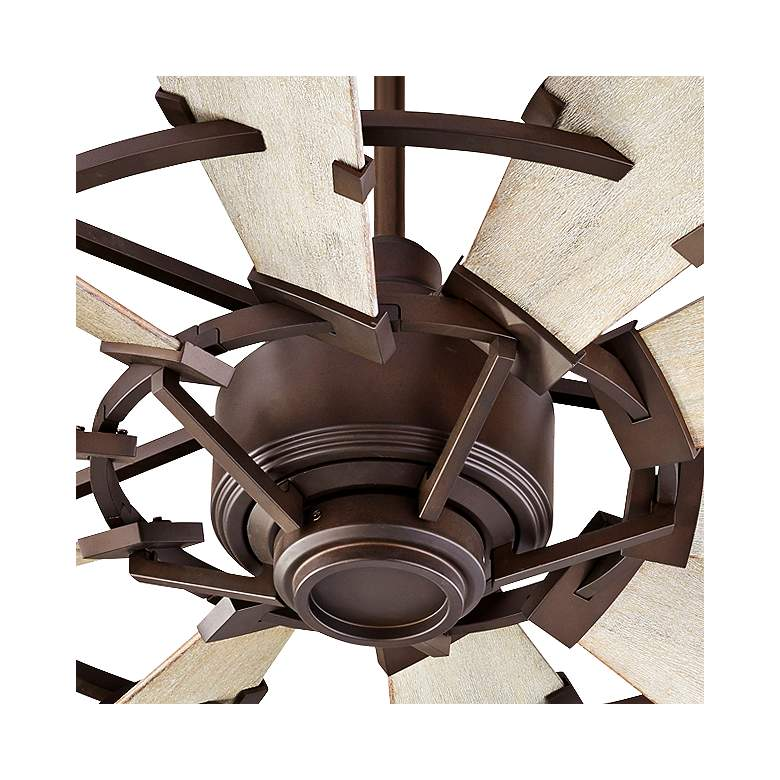 "44"" Quorum Windmill Oiled Bronze Ceiling Fan more views"