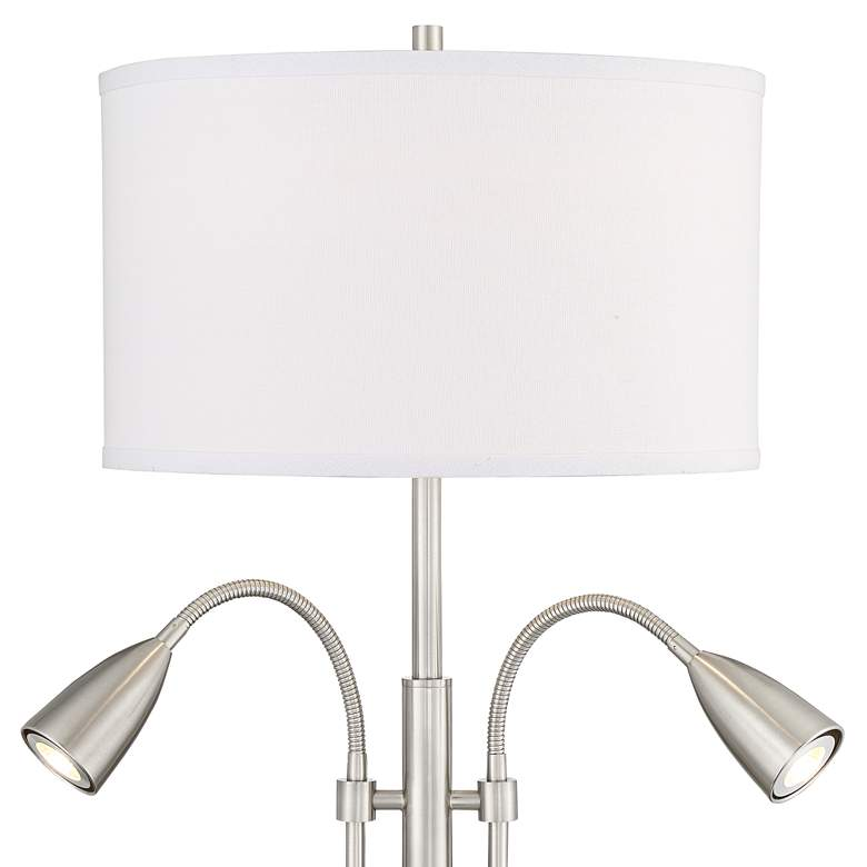 Wagner Brushed Nickel Gooseneck Table Lamp with USB Port more views