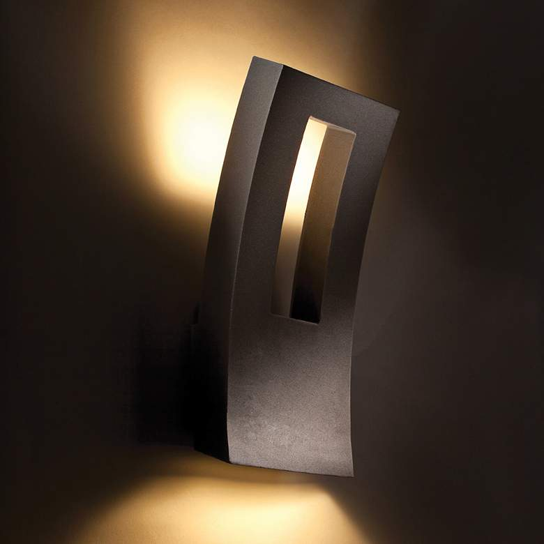 "Modern Forms Dawn 16"" High Bronze LED Outdoor Wall Light more views"