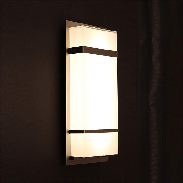"Modern Forms Phantom 16"" High Bronze LED Outdoor Wall Light more views"