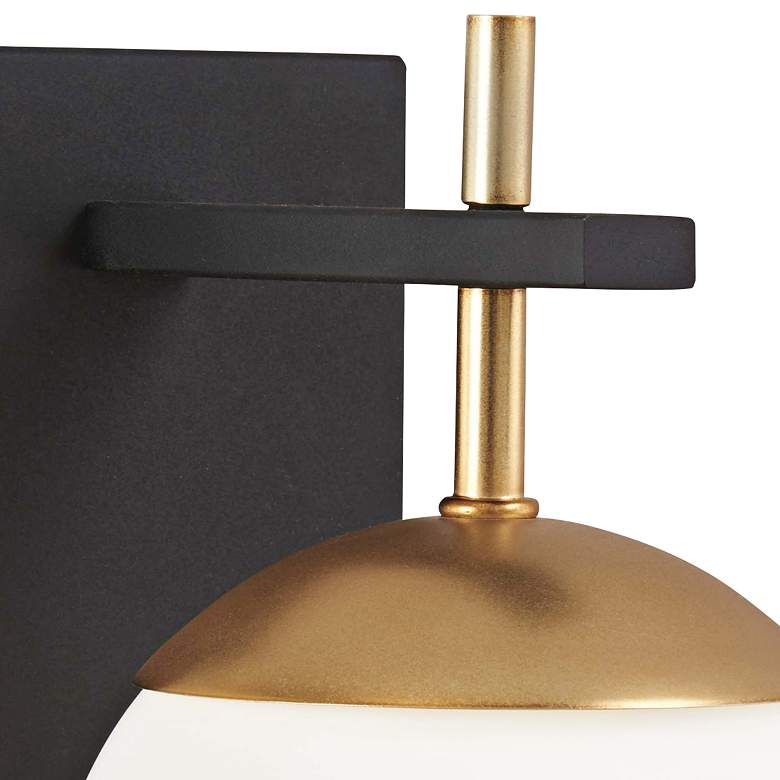 "George Kovacs Alluria 9 3/4"" High Black and Gold Wall Sconce more views"