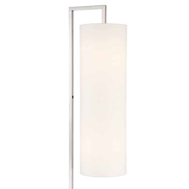 Possini Euro Canaday Brushed Nickel Floor Lamp more views