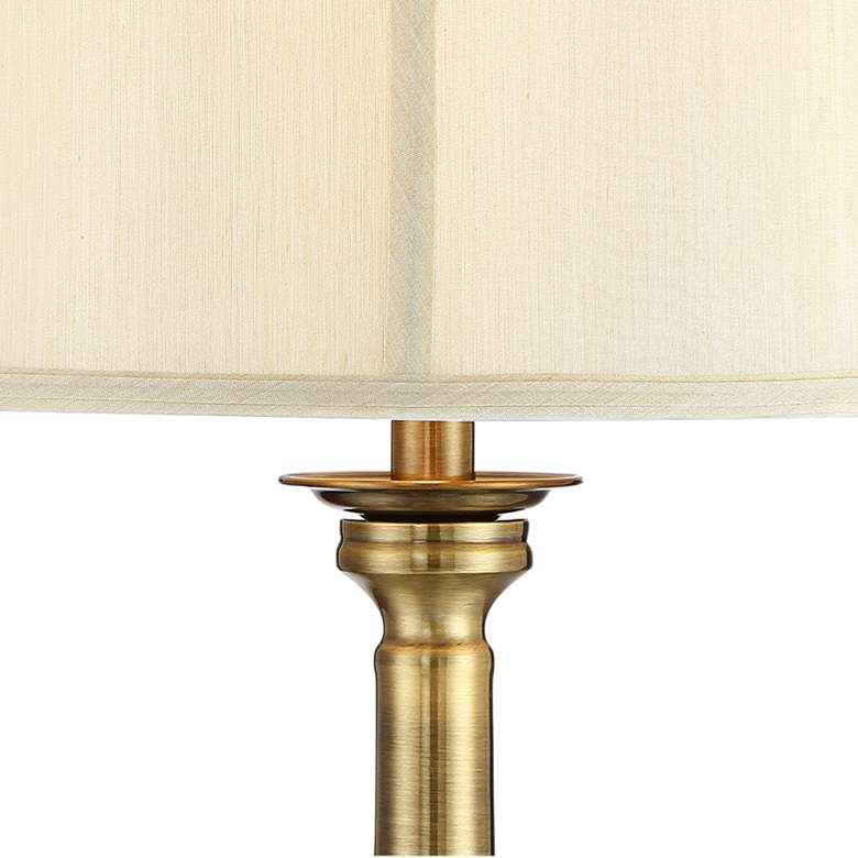 Essex Traditional Satin Brass Floor Lamp more views