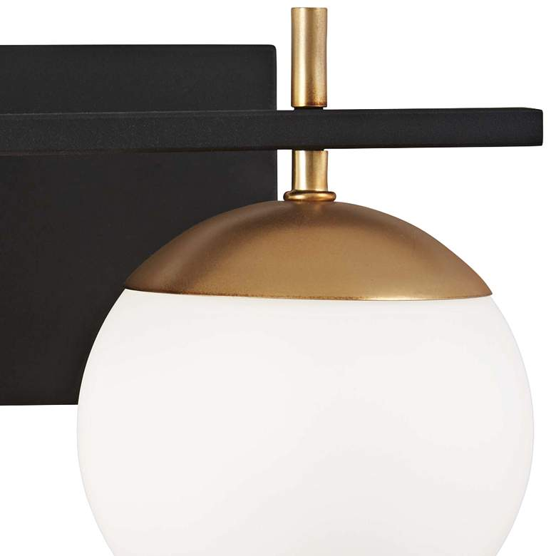 "Alluria 8 1/2"" High Black and Gold 2-Light Wall Sconce more views"