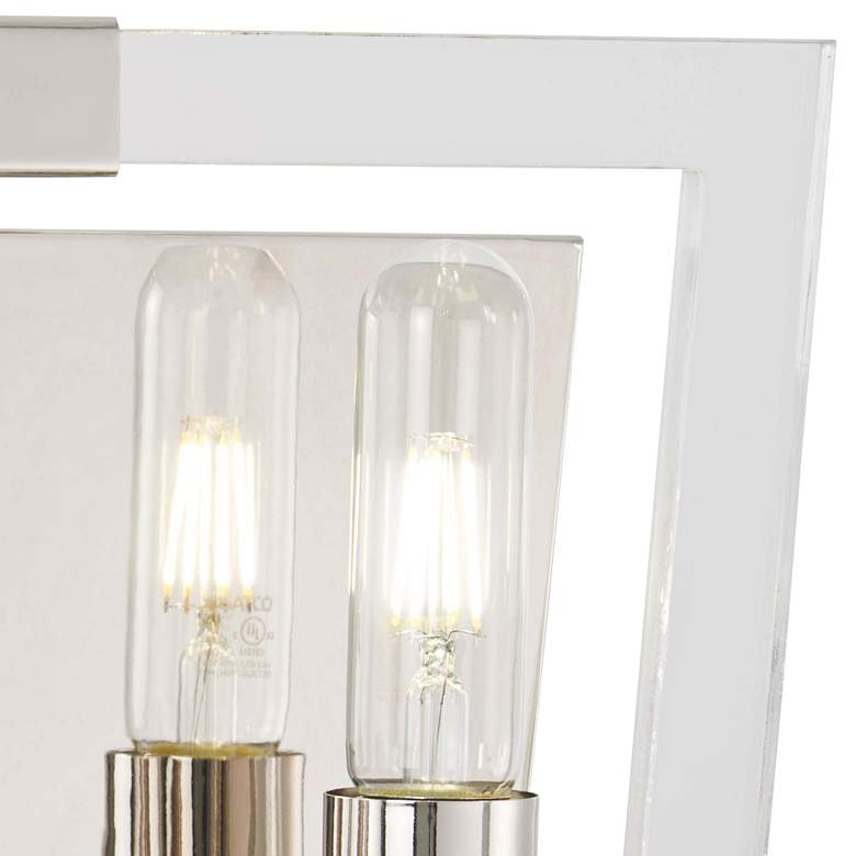 "Crystal Chrome 8 3/4""H Polished Nickel 2-Light Wall Sconce more views"