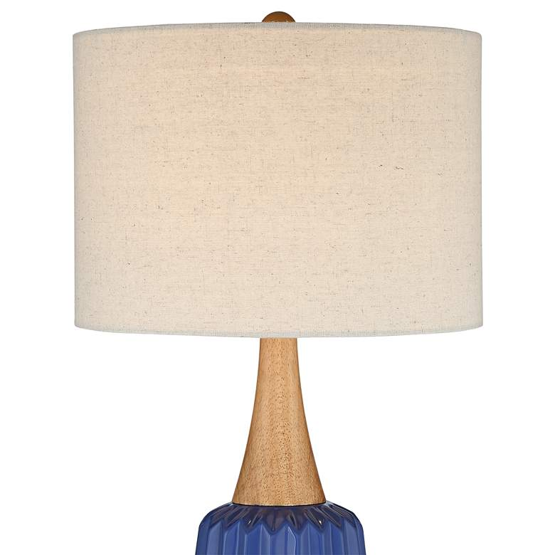 Padre Blue Mid-Century Ceramic Table Lamp more views