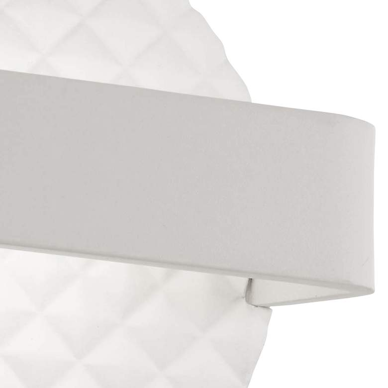 "George Kovacs Quilted 6 3/4""H Matte White LED Wall Sconce more views"