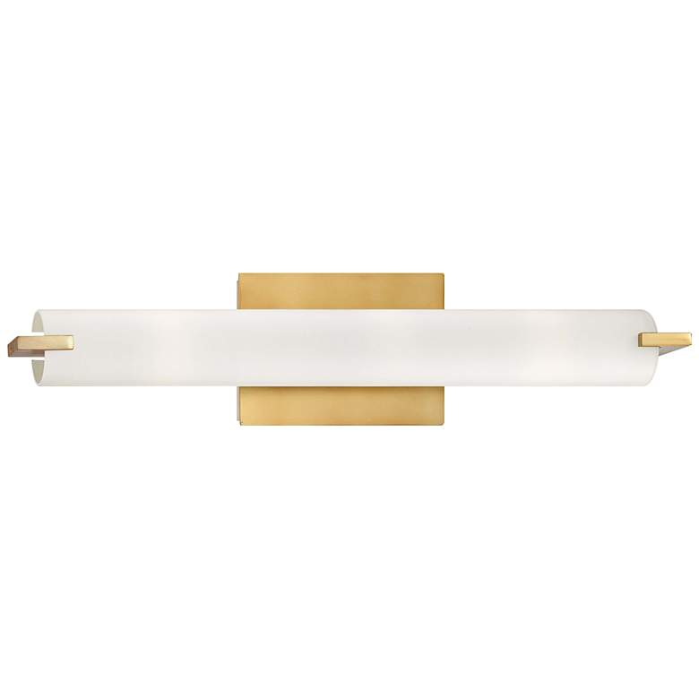 "George Kovacs Tube 20 1/2"" High Honey Gold LED Wall Sconce more views"