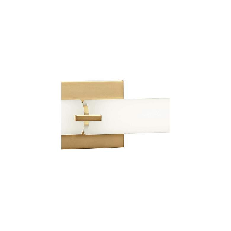 "George Kovacs Tube 39 1/2"" Wide Gold 2-Light LED Bath Light more views"