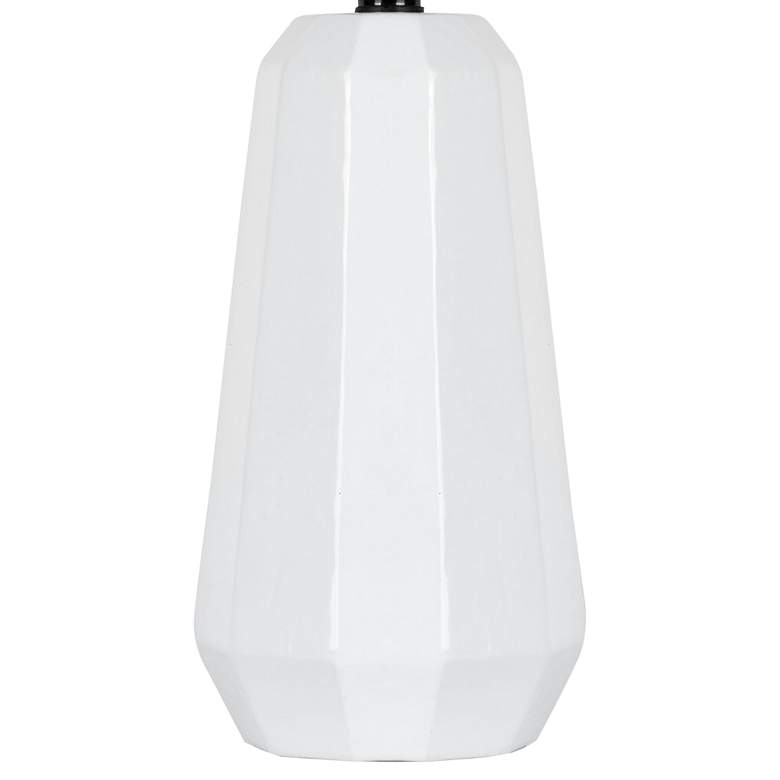 "Lite Source Charna 17 1/2""H White Ceramic Accent Table Lamp more views"