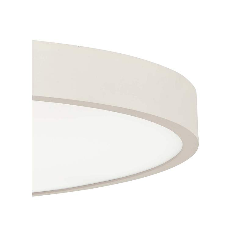 "George Kovacs Ugo 32 1/2"" Wide Sand White LED Ceiling Light more views"