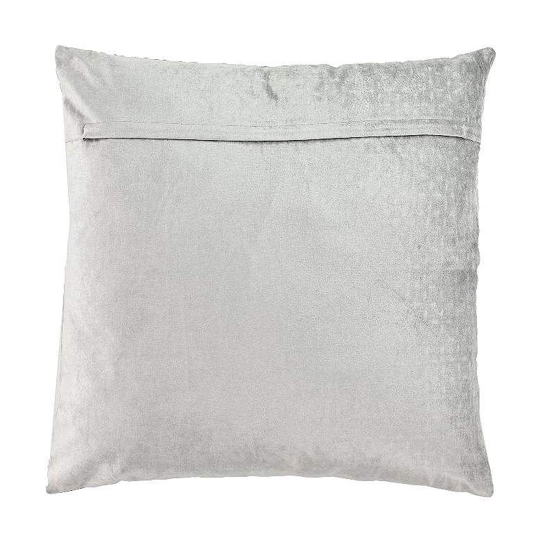"Gray 26"" Square Viscose Velvet Throw Pillow more views"