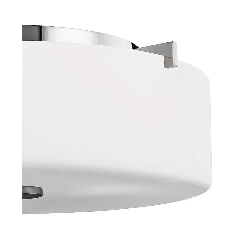 "Feiss Sunset Drive 13 1/2"" Wide Chrome Ceiling Light more views"