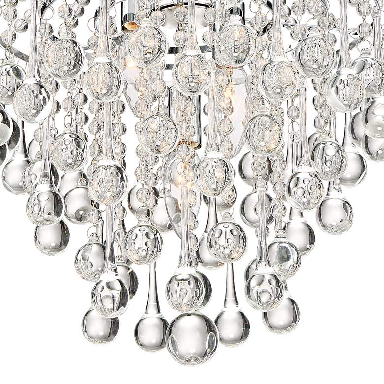 "Josie 12"" Wide Chrome and Crystal Pendant Light more views"