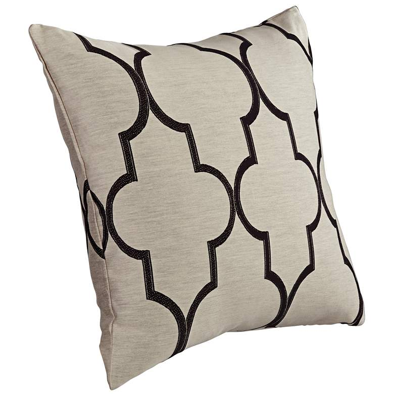 "Paxton Beige 20"" Square Throw Pillow more views"