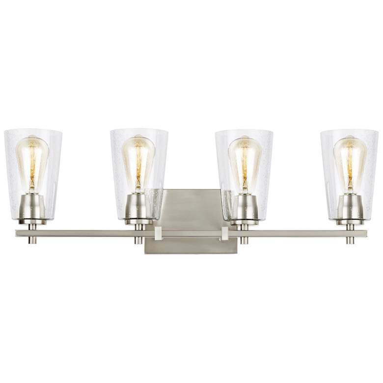 "Feiss Mercer 28 3/4"" Wide Satin Nickel 4-Light Bath Light more views"