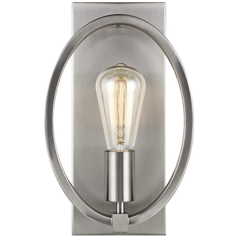 "Feiss Marlena 12 1/2"" High Satin Nickel Wall Sconce more views"
