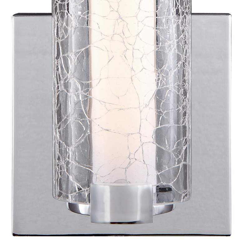 "Cutler 13 1/2"" High Chrome and Crackle Glass LED Wall Sconce more views"