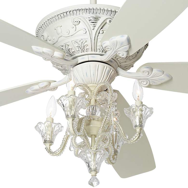 "60"" Casa Vieja™ Montego Pull-Chain White LED Ceiling Fan more views"