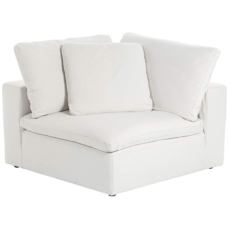 "Skye 125"" Wide Pearl White 3-Piece Modular Sofa more views"
