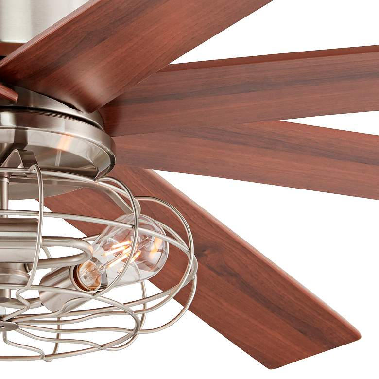 "60"" The Strand Brush Nickel LED Ceiling Fan more views"