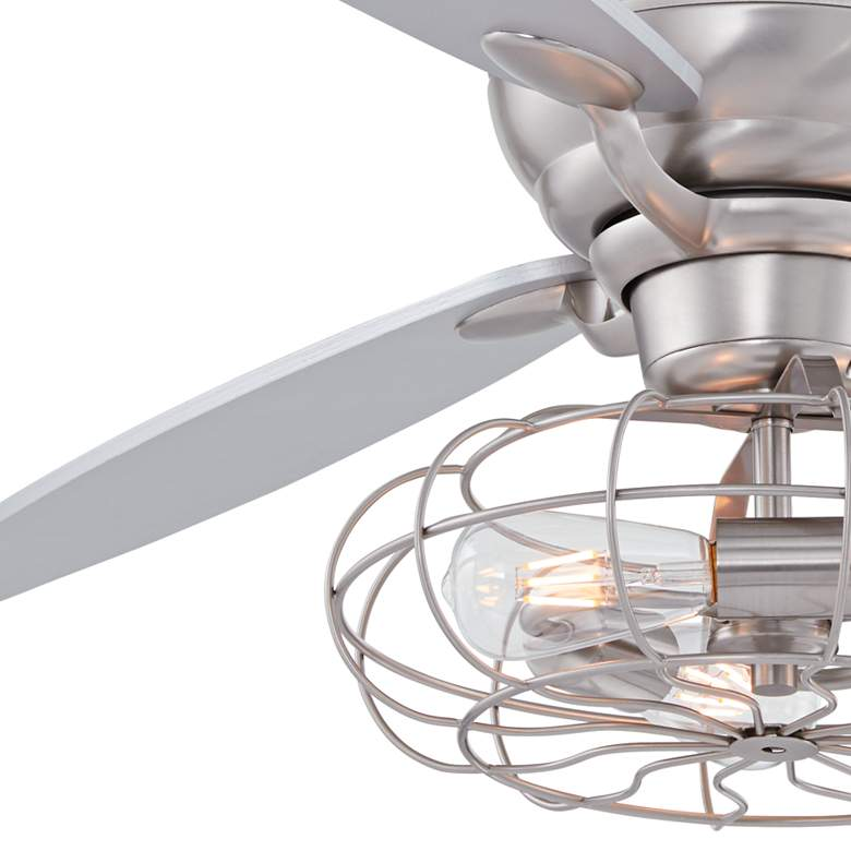 "60"" Spyder Brushed Steel Hugger LED Ceiling Fan more views"
