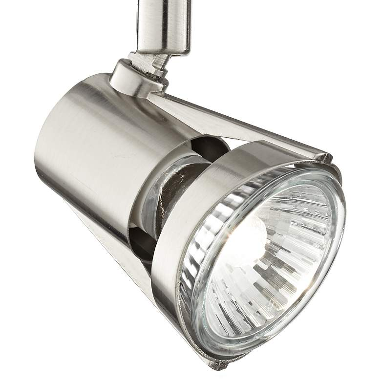 Brushed Nickel LED Track Light Head W/ Bulb more views