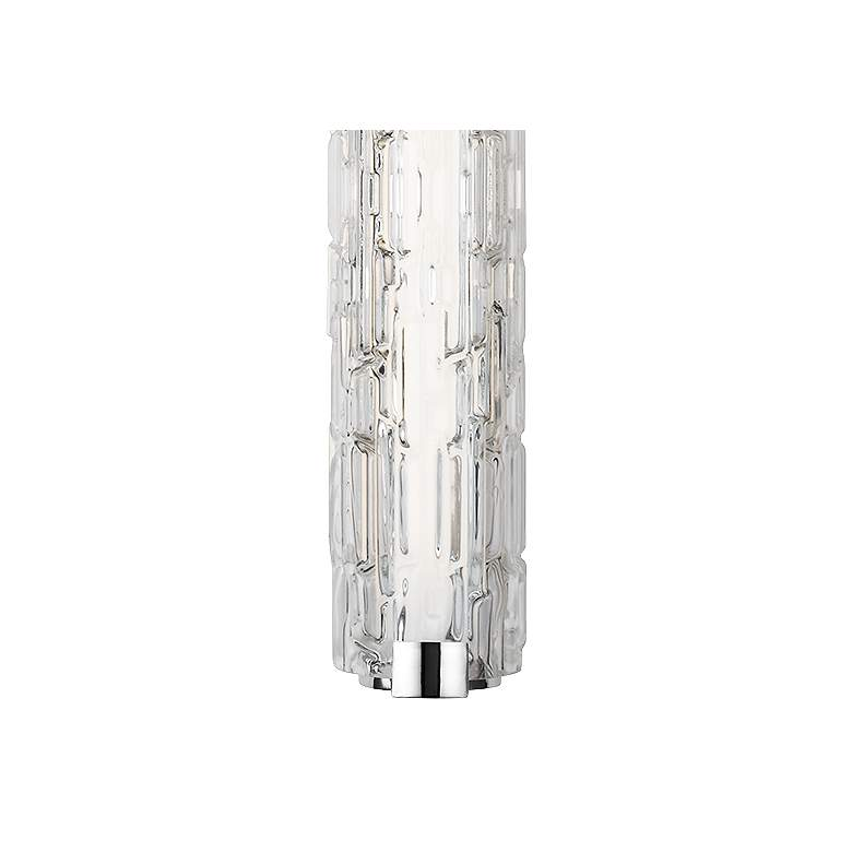 "Cutler 36""W Chrome and Staggered Rock Glass LED Bath Light more views"