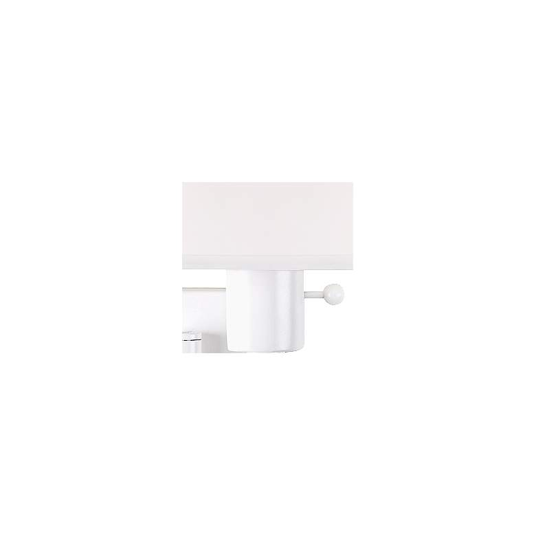 Real Simple Collection White Plug-In Swing Arm Wall Lamp more views