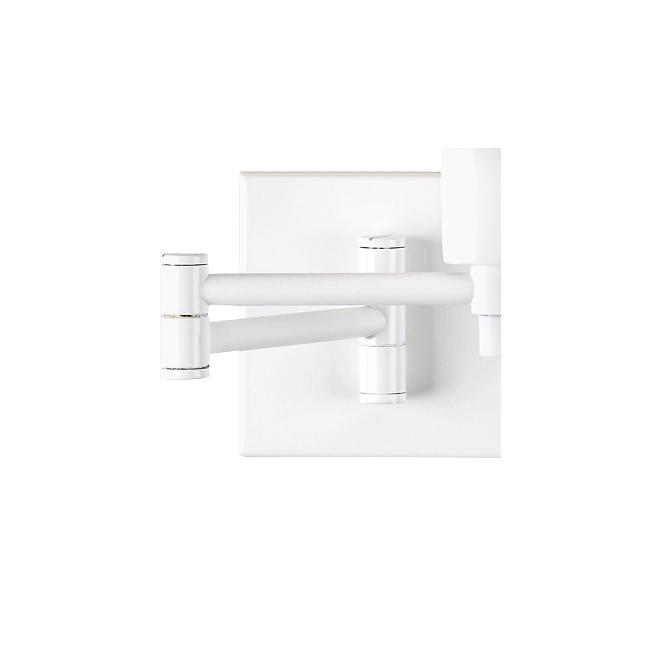 Real Simple Collection White Plug-In Swing Arm Wall Lamp