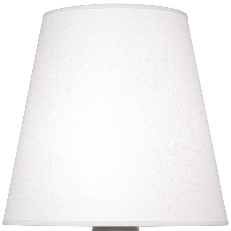 Robert Abbey June Coffee Table Lamp with Oyster Linen Shade more views