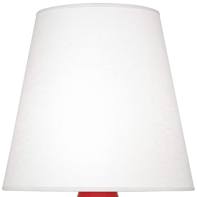 Robert Abbey June Ruby Red Table Lamp w/ Oyster Linen Shade more views