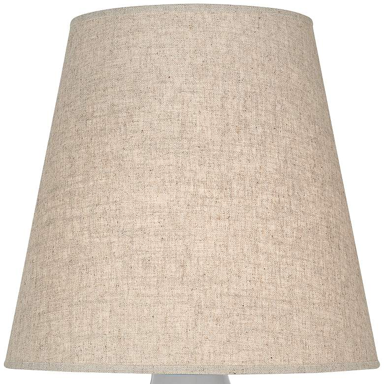 June Smokey Taupe Accent Table Lamp with Buff Linen Shade more views