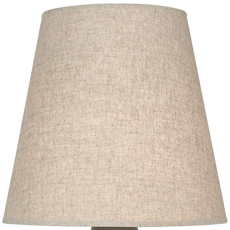 Robert Abbey June Brown Tea Table Lamp with Buff Linen Shade more views