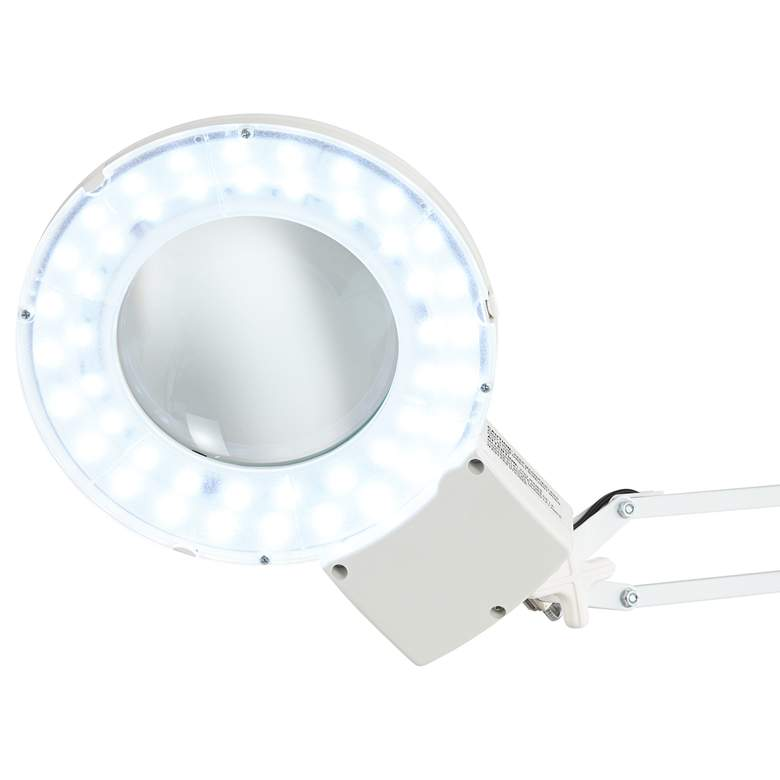 Clancy White LED Architect 3X/5X Magnifier Desk Lamp more views