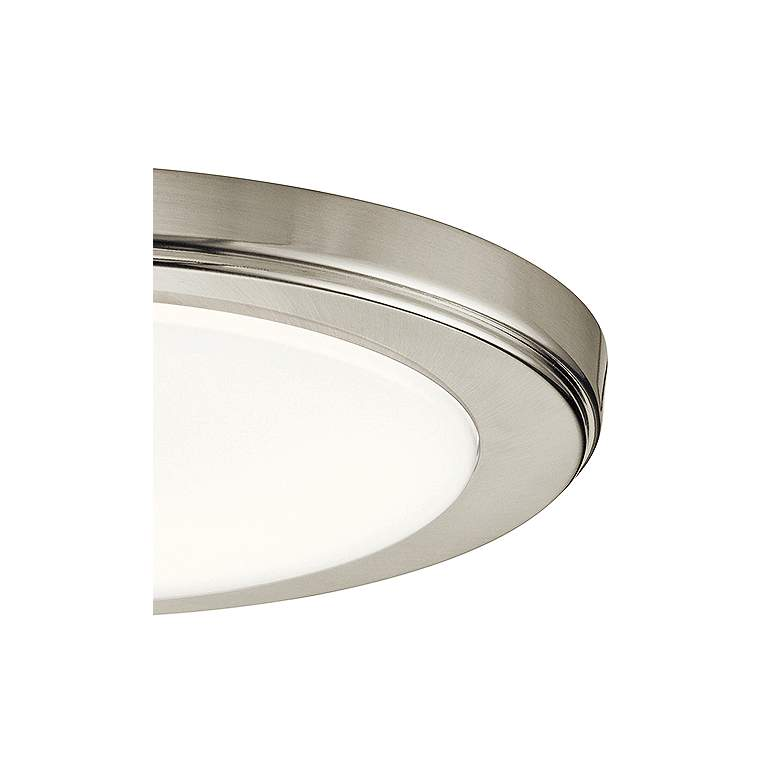 "Zeo 10"" Wide Round Brushed Nickel3000K LED Ceiling Light more views"