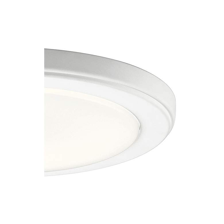 "Kichler Zeo 10"" Wide Round White 3000K LED Ceiling Light more views"