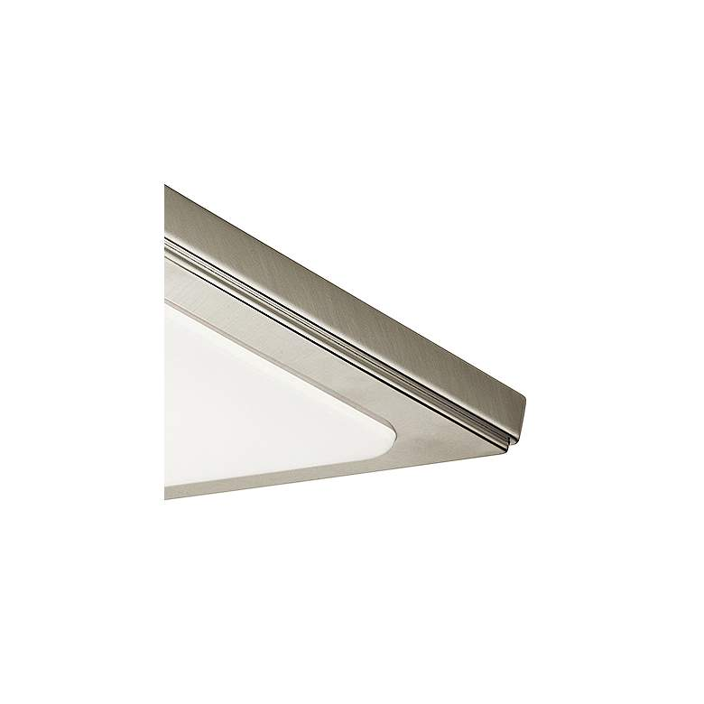 "Zeo 10"" Wide Square Brushed Nickel 3000K LED Ceiling Light more views"
