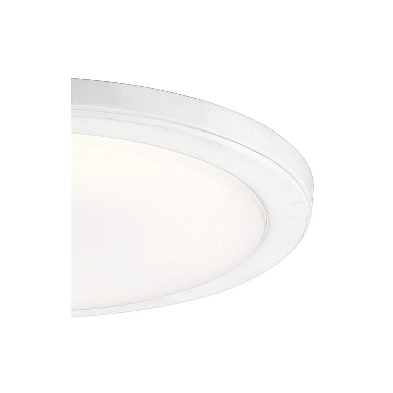 "Kichler Zeo 13"" Wide Round White 4000K LED Ceiling Light more views"
