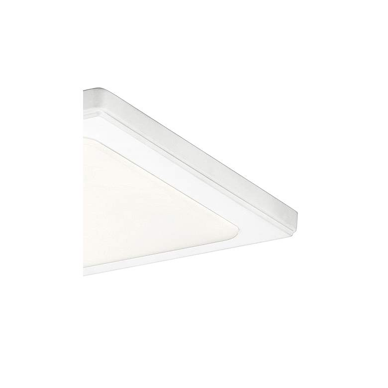 "Kichler Zeo 13"" Wide Square White 3000K LED Ceiling Light more views"