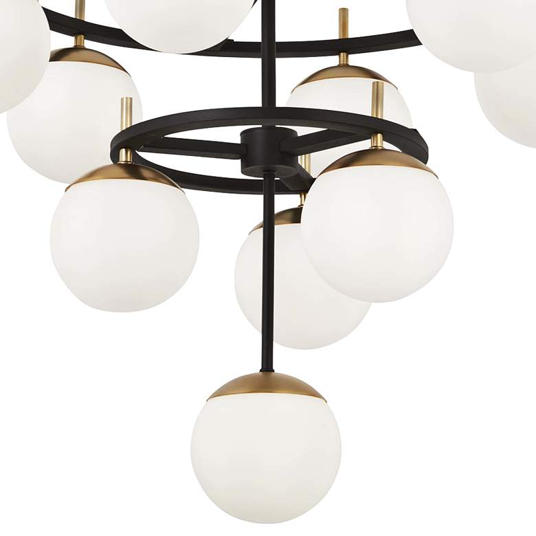 "Alluria 30""W Weathered Black and Gold 10-Light Chandelier more views"
