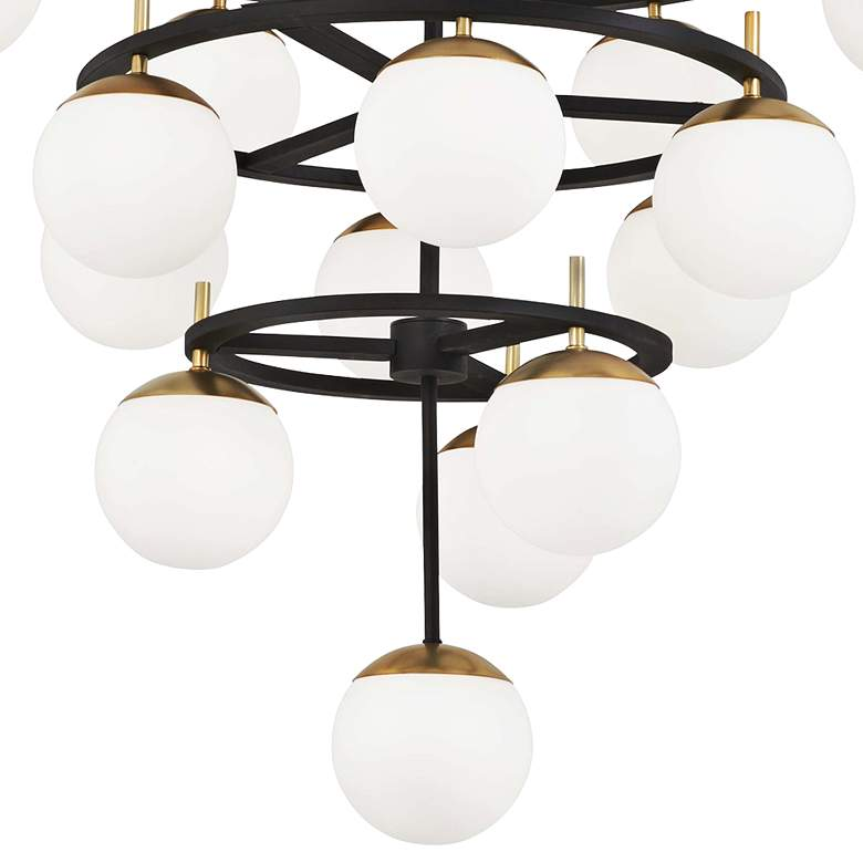 "Alluria 36""W Weathered Black and Gold 16-Light Chandelier more views"