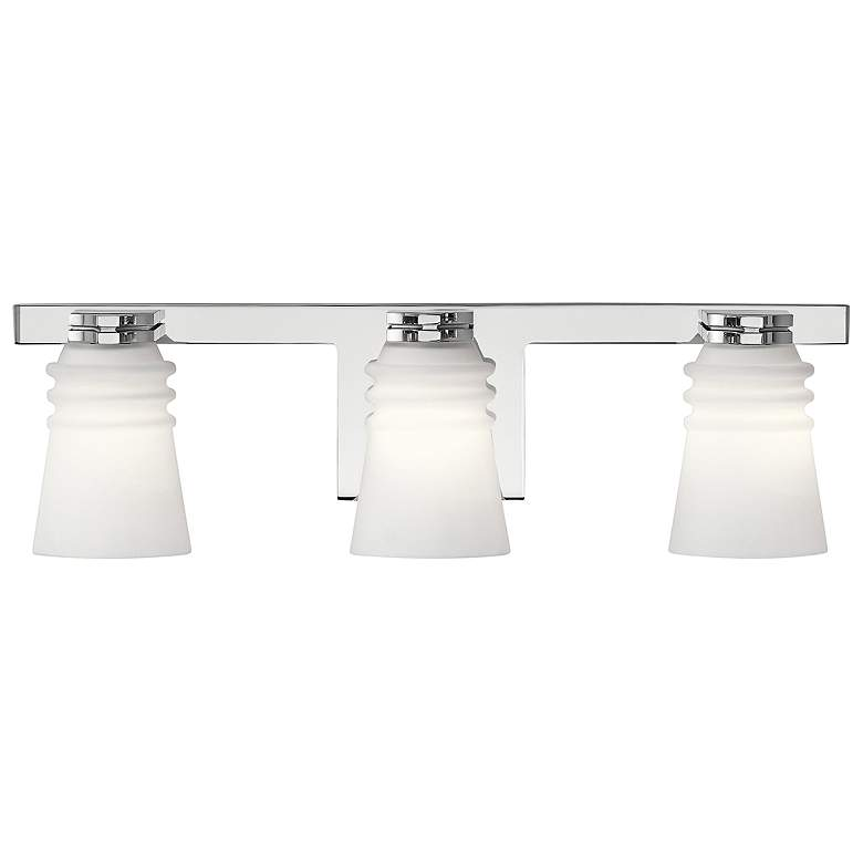 "Kichler Victoria 20"" Wide Chrome 3-Light Bath Light more views"