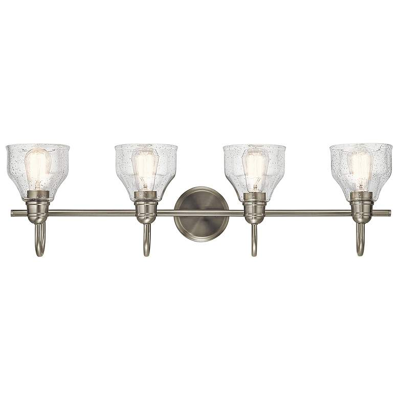 "Kichler Avery 33 1/4"" Wide Brushed Nickel 4-Light Bath Light more views"