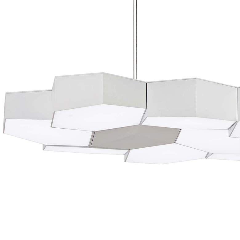 "Hexacomb 32 1/4"" Wide White LED Kitchen Island Light Pendant more views"