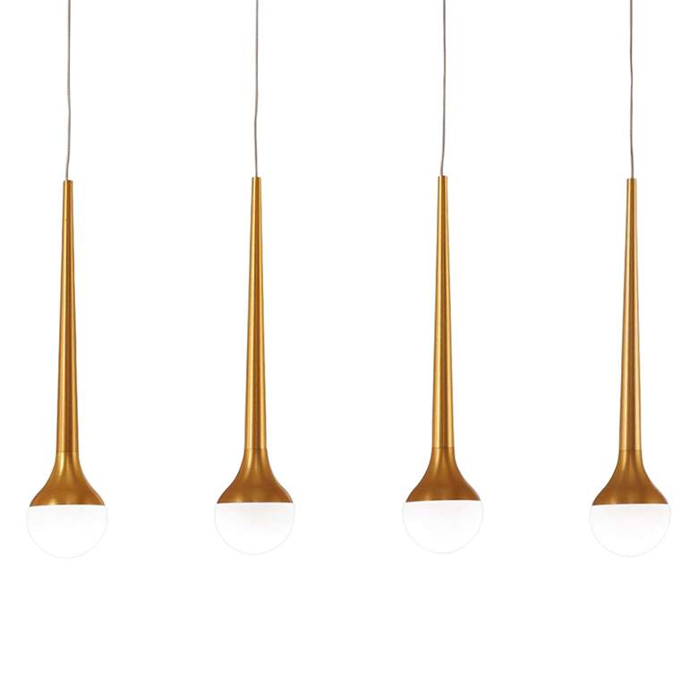 "Honey Drip 44 1/2""W Gold LED Kitchen Island Light Pendant more views"