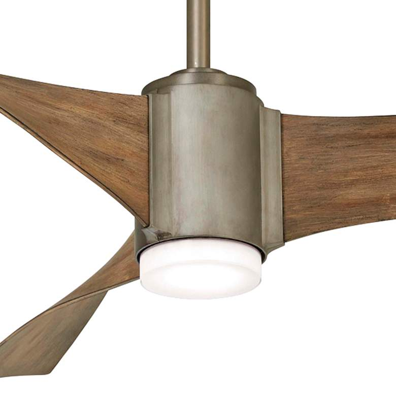 "60"" Minka Aire Triple Brushed Steel LED Ceiling Fan more views"